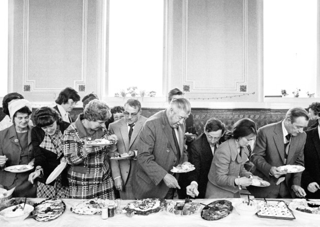Todmorden. Mayor of Todmorden's inaugural banquet. 1977. ©Martin Parr / Magnum Photos